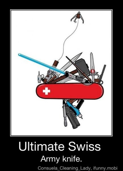 Ultimate Swiss Army Knife For Geeks Only Including Star