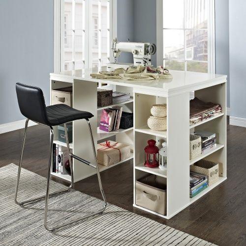 Belham Living Sullivan Counter Height Desk Vanilla Laundry Room