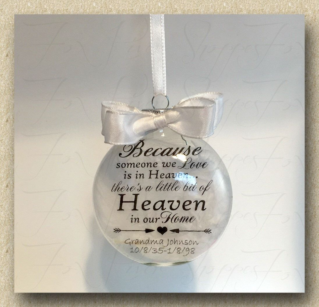 Personalized Christmas Ornament - Because Someone We Love is in ...
