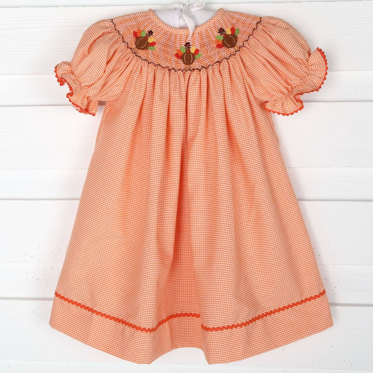 In Stock Size 18 month Ready To Ship Girl/'s Thanksgiving Dress Thanksgiving Clothing Girls Turkey Dress
