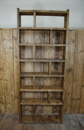 BOOKCASE home office library reclaimed wood industrial rustic vintage shelves 7  | eBay