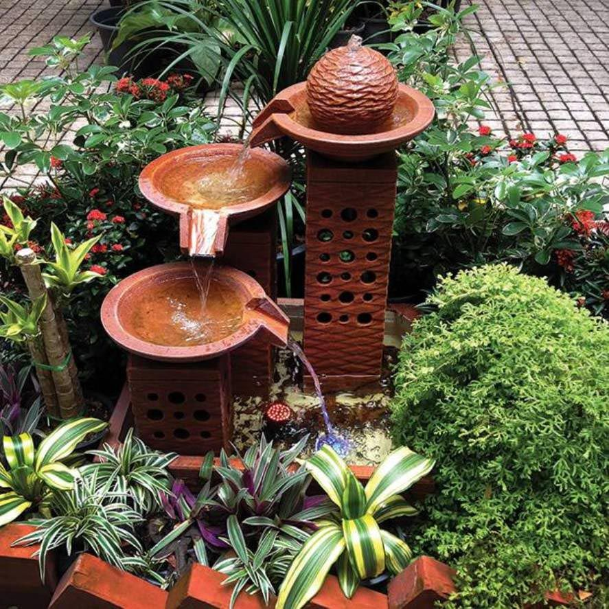 Yard Fountains Small Yard Water Fountains Outdoor Fountains Pinterest Small