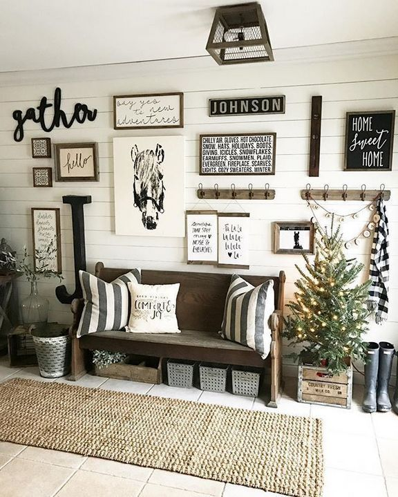 40 Facts Fiction And Wall Collage Ideas Living Room Rustic Apikhome Com Farm House Living Room Farmhouse Wall Decor Home Decor