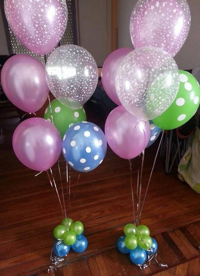 decoracion con globos | adornos para fiestas | Pinterest | Bebé ...