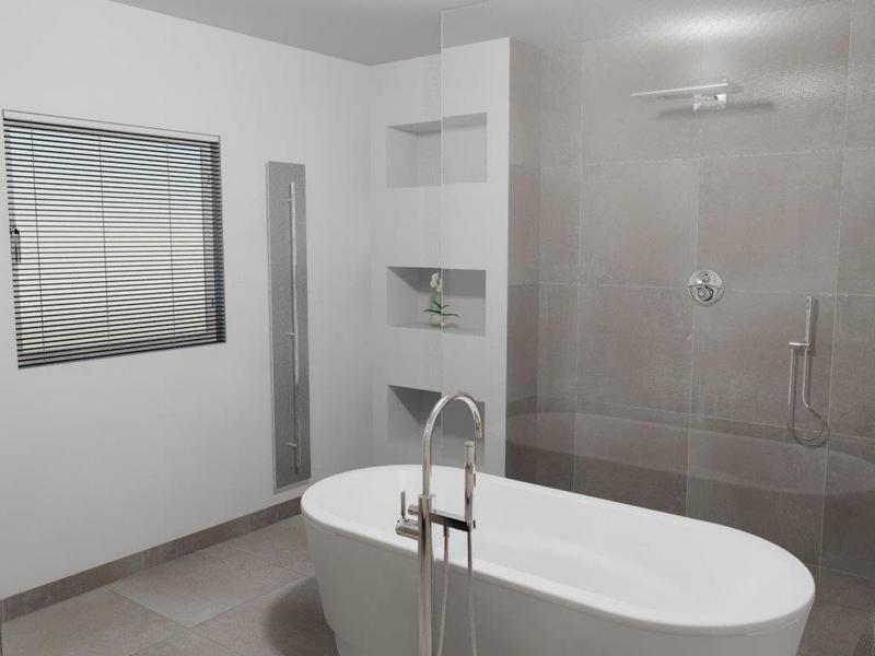 Indeling badkamer vrijstaand bad tegenover inloopdouche house bathroom inspiration - Badkamer indeling ...