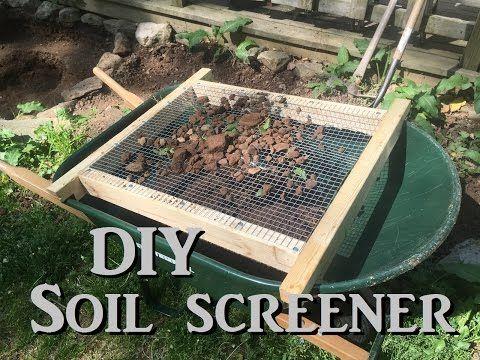 Quick Soil And Compost Screener Youtube Compostscreener Diy