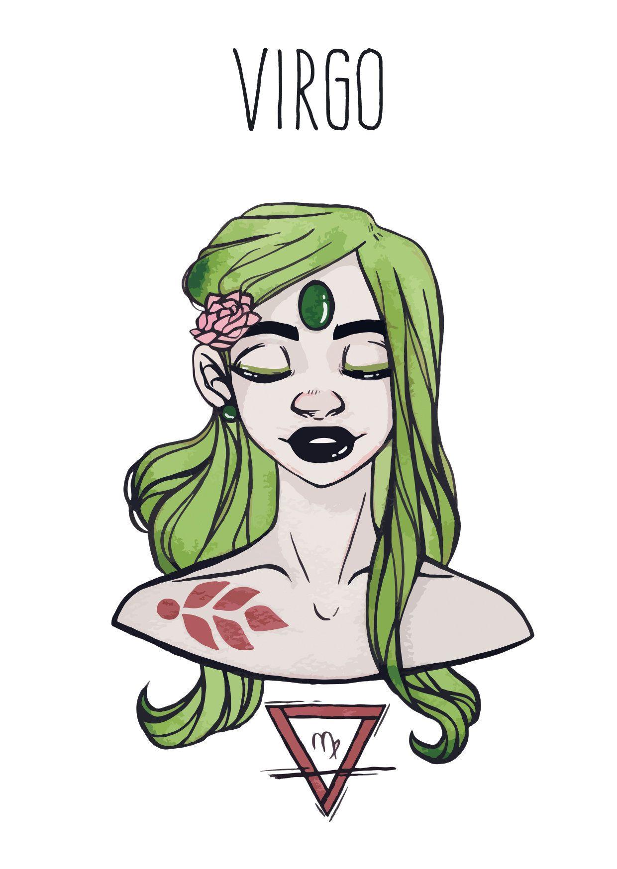 Virgo Goddess Postcard Astrology Star Signs Etsy Zodiac Art Zodiac Characters Zodiac Star Signs