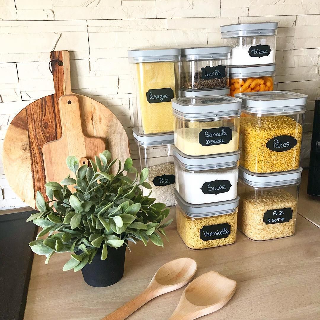 Aℓℓiѕsi On Instagram Rangement Ces Boites De Conservation Sont Vraiment Top Achetee A Petit Garde Manger Astuce Rangement Cuisine Rangement