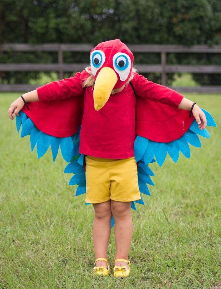 Papagei Kostum Kinder Nahen Anleitung Einfach Fasching Carnival