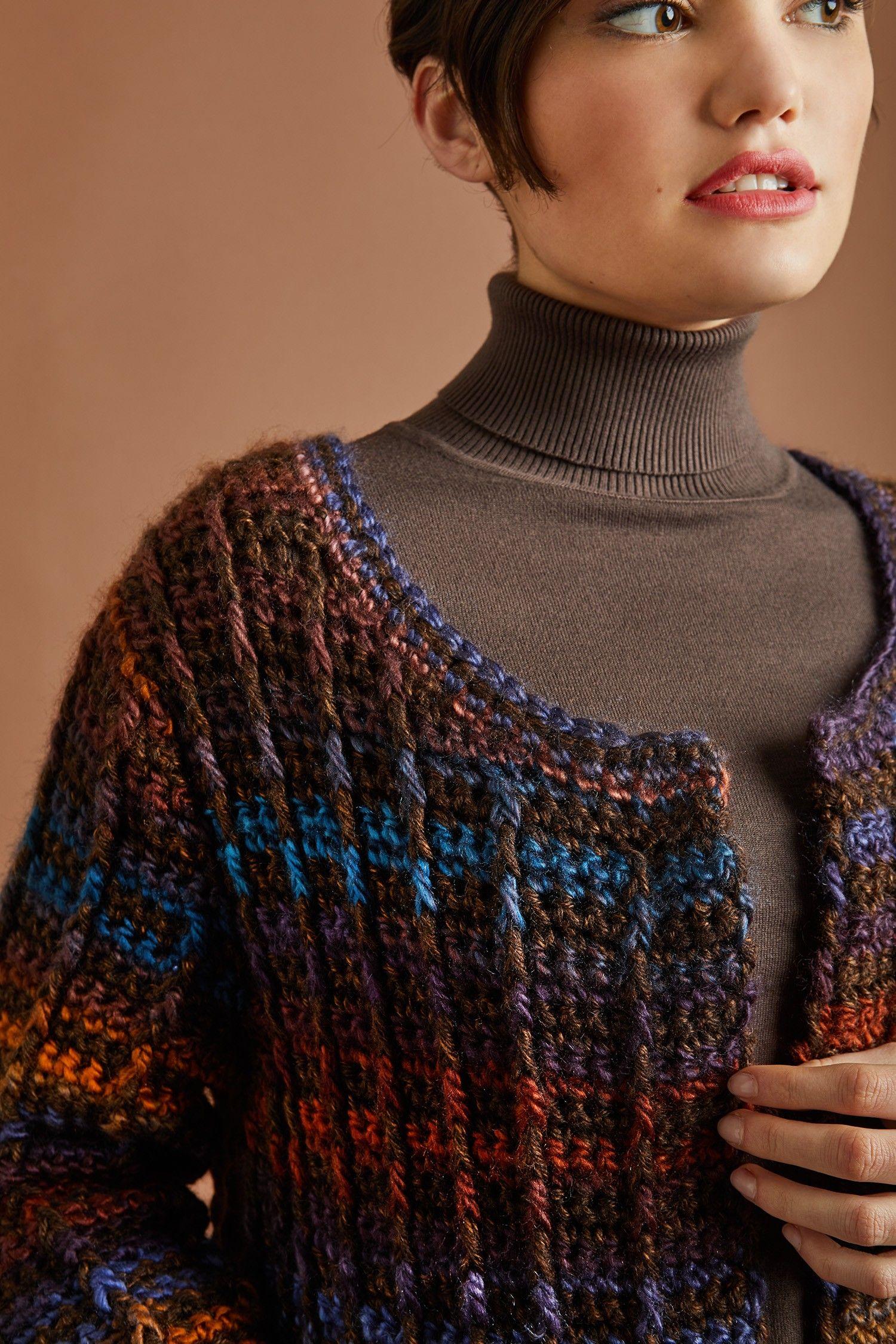 Colorfully Modern Cardigan (Crochet)