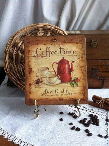 """Кухня ручной работы. Ярмарка Мастеров - ручная работа. Купить Доска разделочна """"Coffee tim"""". Handmade. Кухонная утварь"""