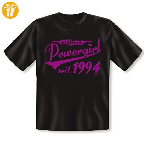 T-Shirt zum 20. Geburtstag! German Power Girl seit 1994! 20 Jahre! Tolles Geschenk zum 20ger! Gr: 4XL Farbe: schwarz (*Partner-Link)