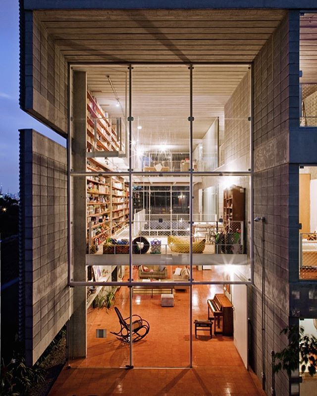 Casa No Morro Do Querosene House, Sao Paulo by GrupoSP - More images @archisity #fineinteriors #interiors #interiordesign #architecture #decoration #interior #loft #design #happy #luxury #homedecor...