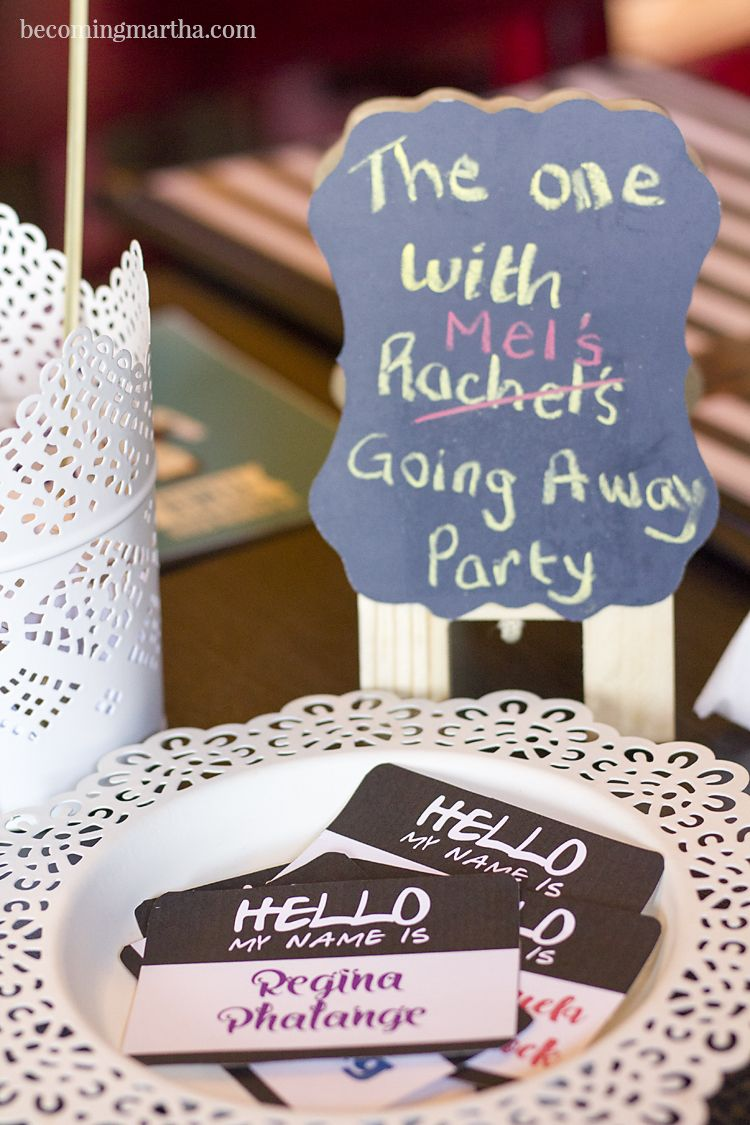 Friends Themed Party Or Luncheon Ideas Favors Decor And More