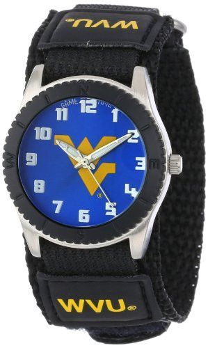 """Game Time Unisex COL-ROB-WVU """"Rookie Black"""" Watch - West Virginia"""