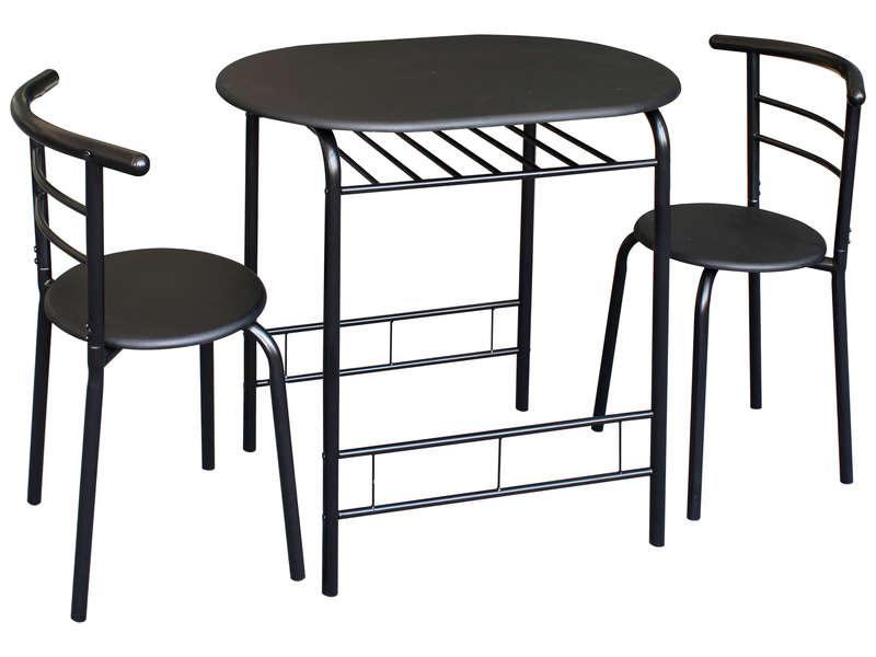 Ensemble Table Et 2 Chaises De Cuisine Patrick Coloris Noir Vente De Ensemble Table Et Chaise Conf En 2020 Chaise Cuisine Ensemble Table Et Chaise Table Et Chaises