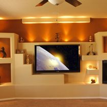Custom Home Media Wall Design Portfolio Thunderbird Custom