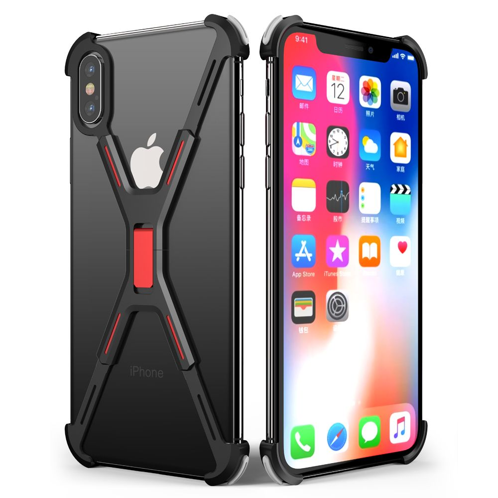 huge selection of 35218 2599c OATSBASF X Shape Metal phone Cover for iPhone XS Max Case Back Cover ...