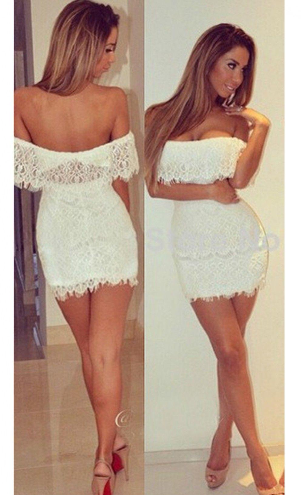 Off The Shoulder Party Lace Mini Dress $29.99 | Fashion ...