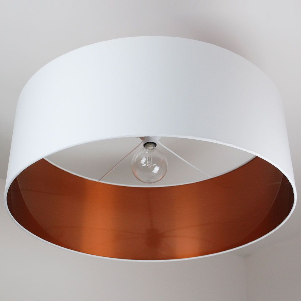 70cm Extra Large Oversize Brushed Copper Effect Drum Shade 40 Colours Ceiling Shades Copper Ceiling Large Lamp Shade