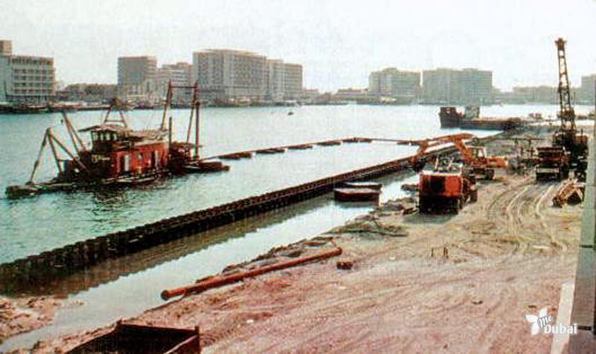 Dubai Creek Second Dredging in 1970s #dubai   Dubai دبي