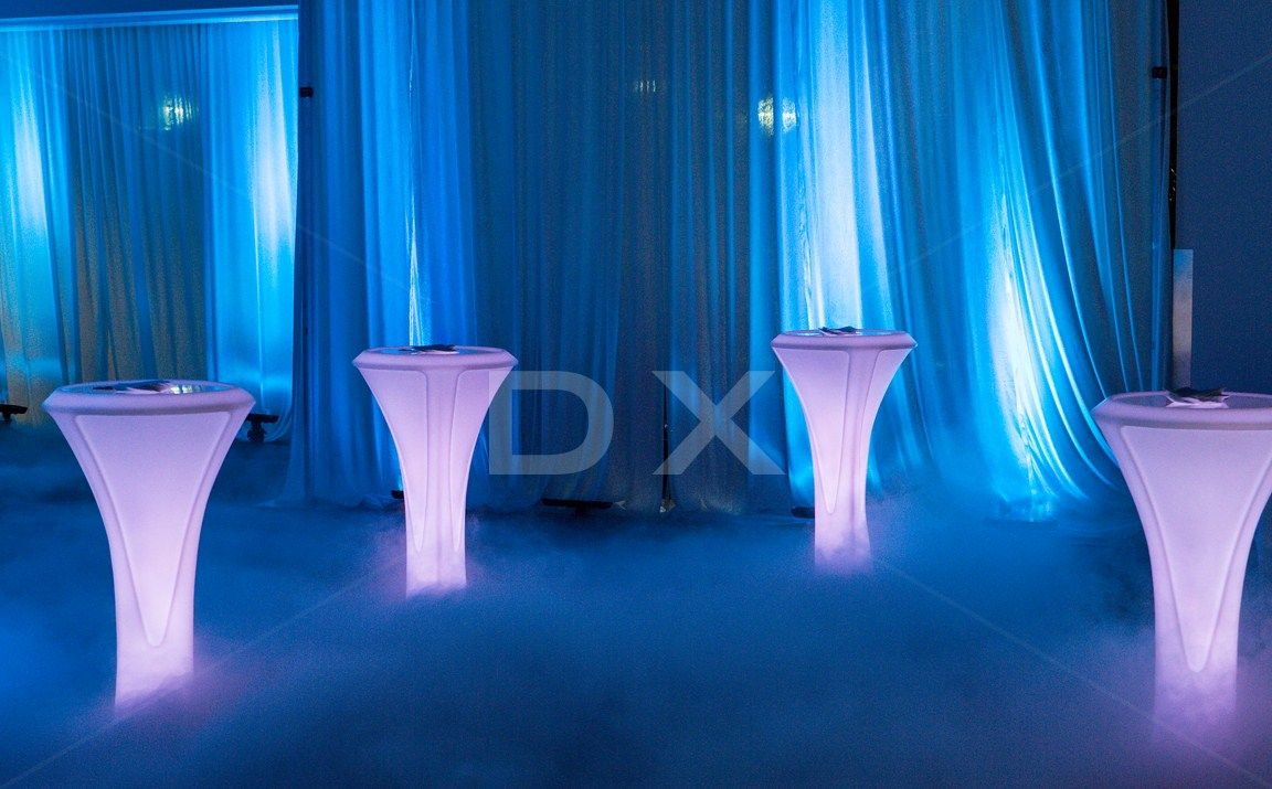 Wireless LED Lumina Cocktail Tables by DX Design