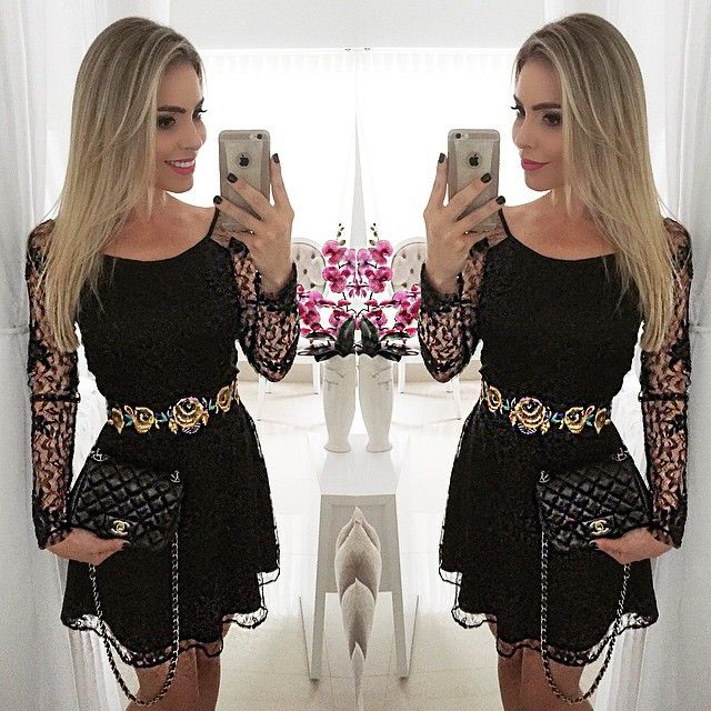 44df93e8e Vestido de verão 2015 nova moda feminina roupas sexy vestido de festa de  verão estilo Casual bainha o pescoço manga comprida vestidos em Vestidos de  Roupas ...