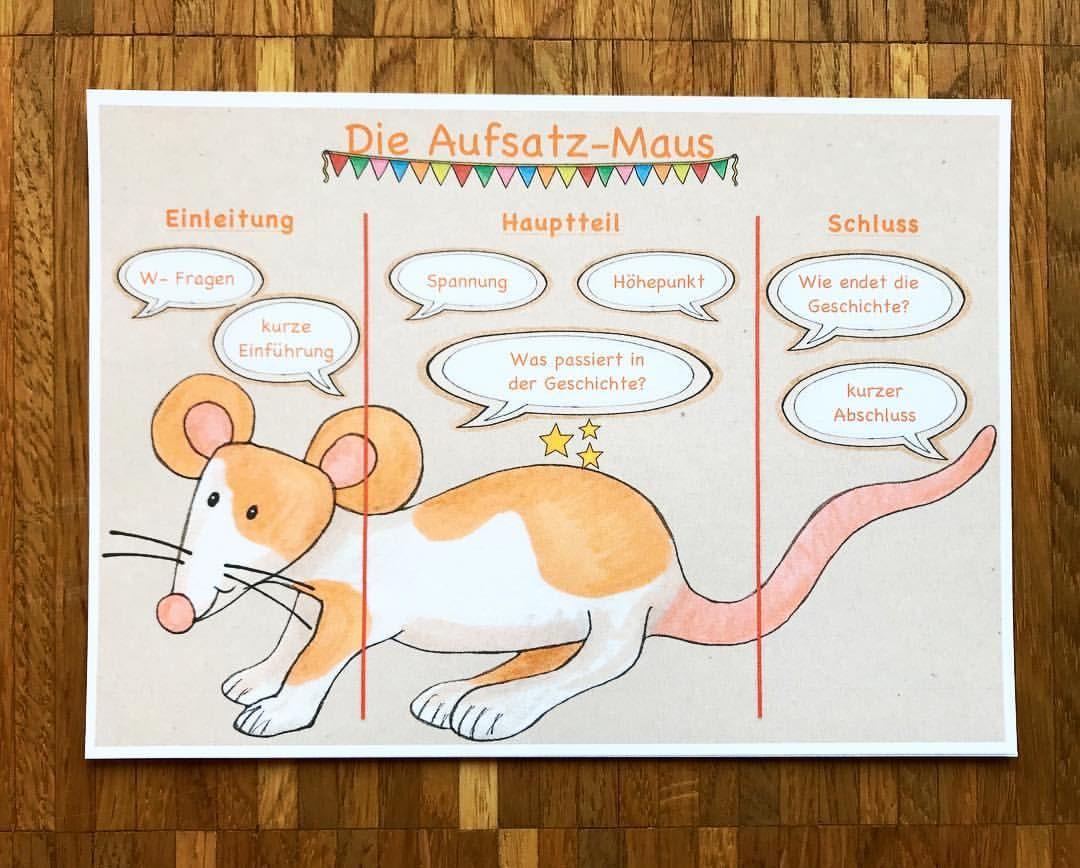 M A U S Die Aufsatz Maus Wer Kennt Sie Nicht Ich Finde Die Aufsatz Maus Sinnvoll Fur Den Ein Wortliche Rede Aufsatz Brief Schreiben Grundschule