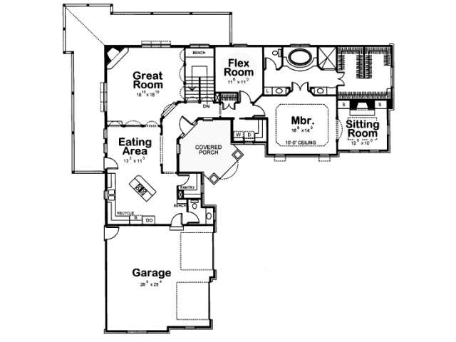 The marvelous of l shaped house plans with 2 car garage for L shaped ranch house plans