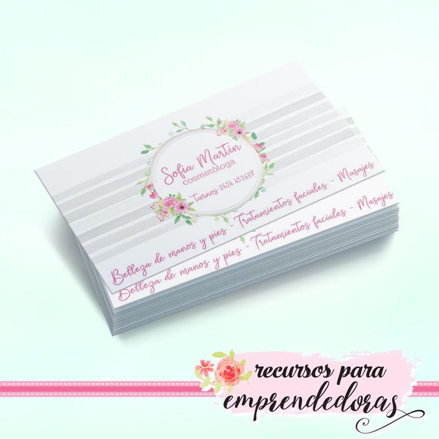 Diseño de tarjeta personal para estética, cosmetóloga / Recursos ...
