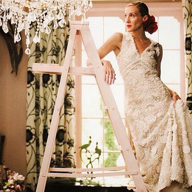 oscar de la renta | wedding | pinterest | carrie bradshaw wedding