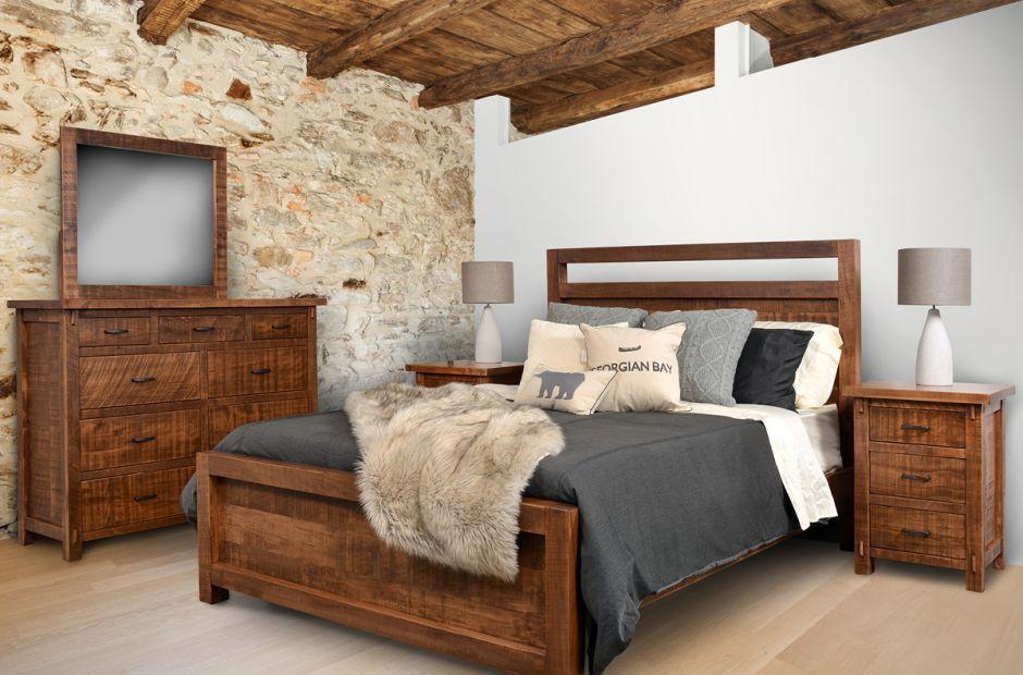 Casey rustic wooden bedroom set farmhouse bedroom