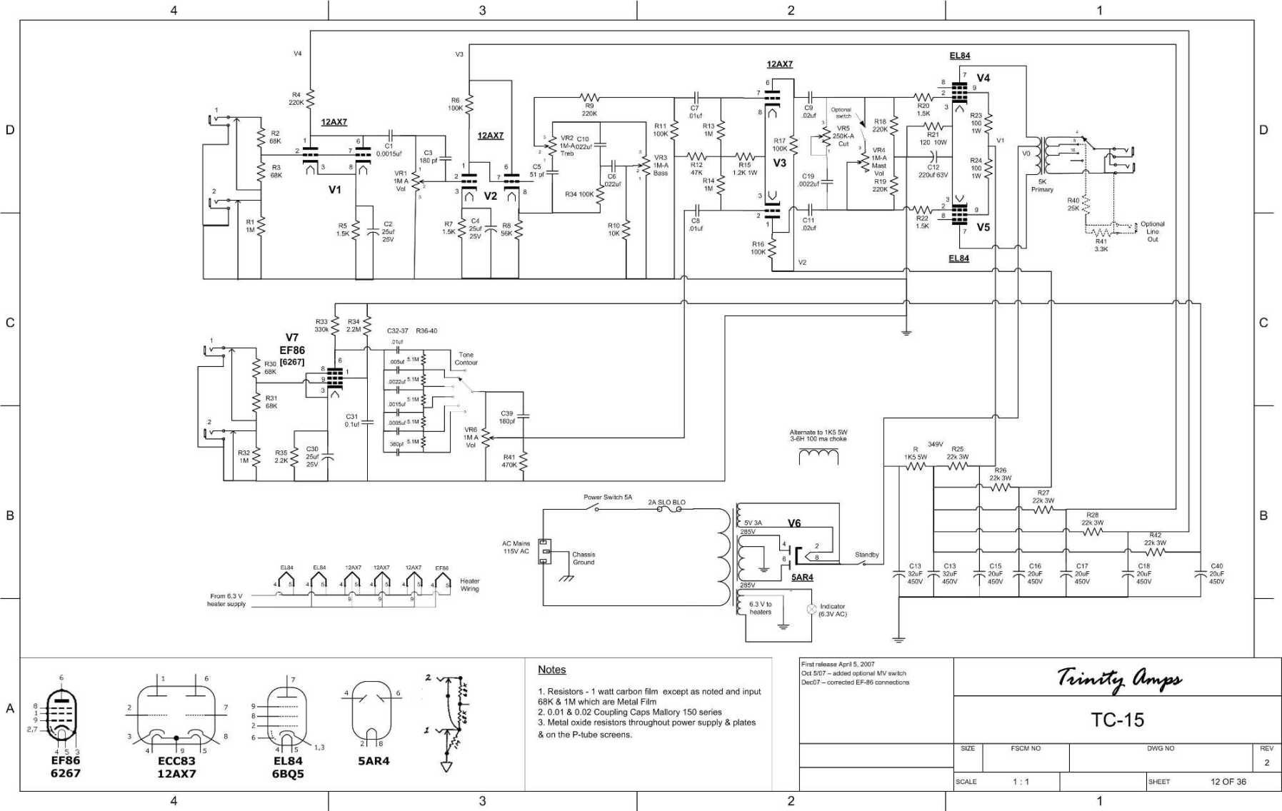 ac 15 amp schematic wiring vox ac-15 without tremolo | amp schematics | pinterest ... #8