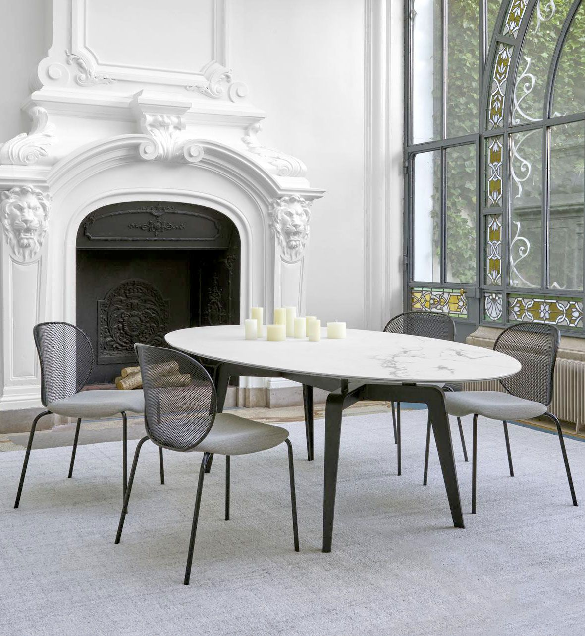15 High End Contemporary Dining Room Designs: Unbeaumatin Dining Chair Designed By Quaglio Simonelli For