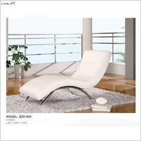 White Modern Leather Chaise Lounge Contemporary Chaise Lounge