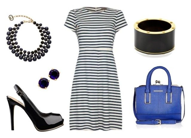 Work Week - A line Striped Dress by dressed2dnines on Polyvore featuring Fever, GUESS, River Island, Pluma, Kate Spade and Gucci