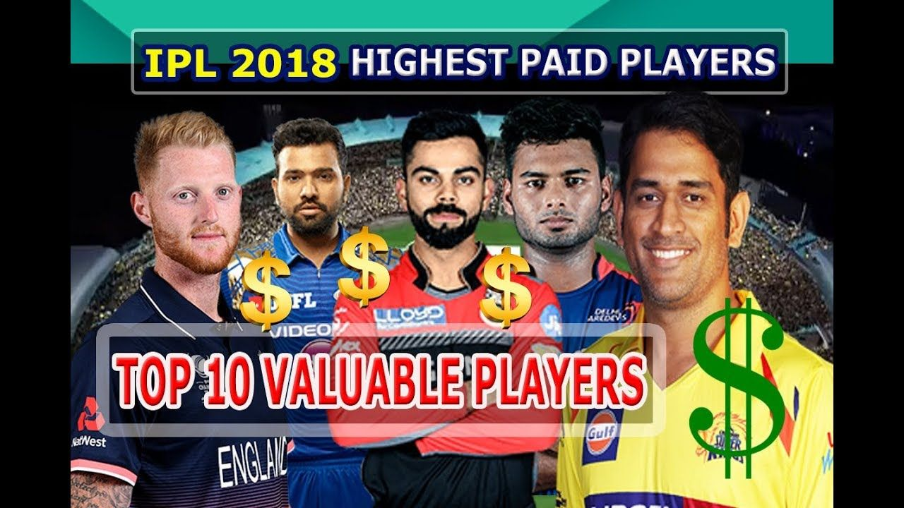 Top 10 Highest Paid Players in Vivo IPL 2018 Most