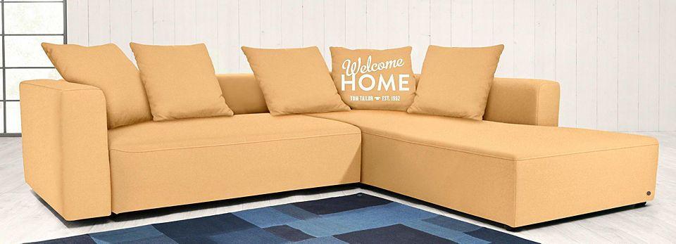 TOM TAILOR Polsterecke XL »HEAVEN CASUAL COLORS«, wahlweise mit - wohnzimmer orange beige