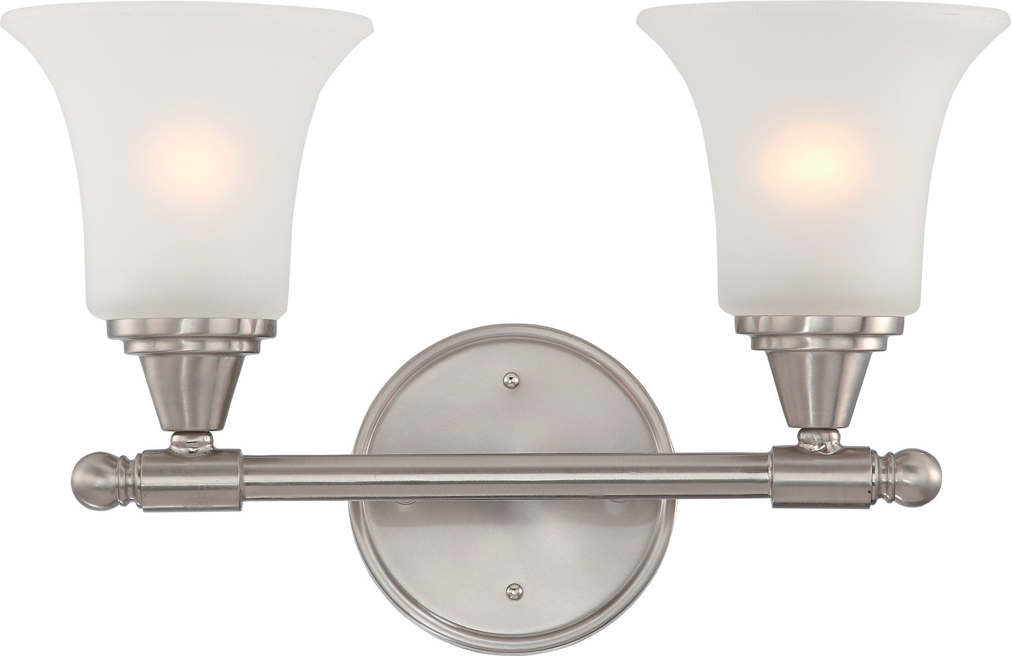 Vanity Light Fixture in Brushed Nickel with Frosted Glass