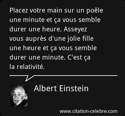 einstein relativite