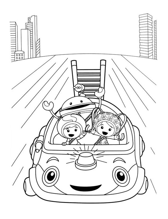 team umizoomi coloring pages pictures - Umizoomi Coloring Pages Printable