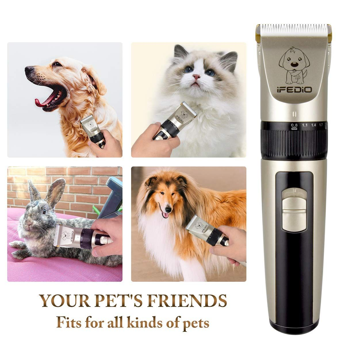 Txpy Professional Dog Clippers Rechargeable Dog Grooming Kit Cordless Pet Grooming Clippers Low Noise Dog Grooming Clippers Dog Grooming Supplies Dog Grooming