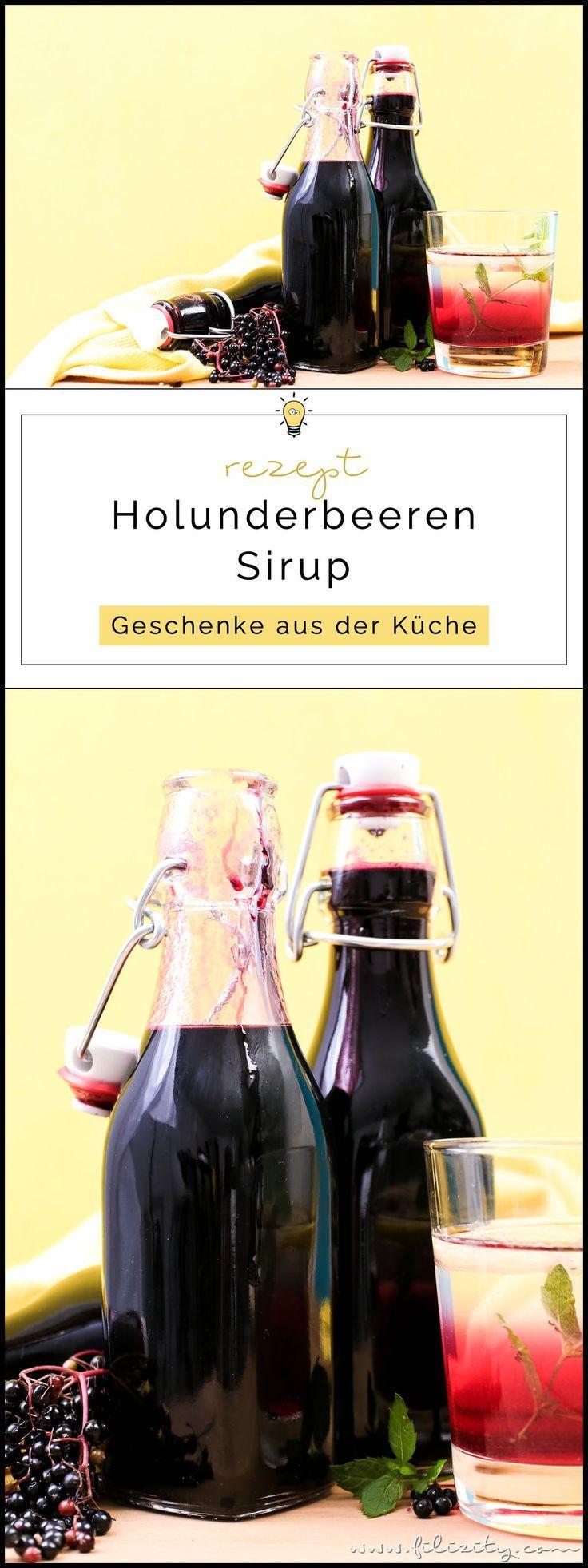 Holunderbeeren-Sirup Rezept (Fliederbeerensirup) für Getränke & mehr | Filizity.com | Food-Blog aus dem Rheinland