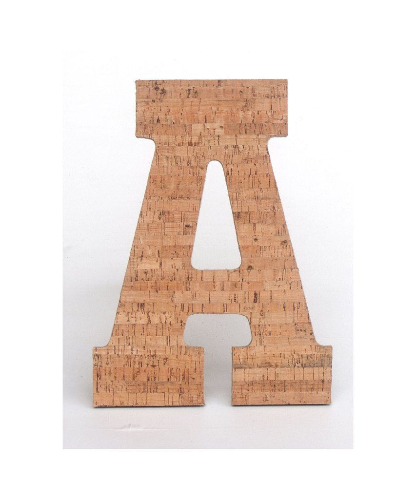 Cork board letters naturally antimicrobial