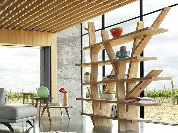 Zona de trabajo al natural   Muebles modernos, Librerías y Bibliotecas