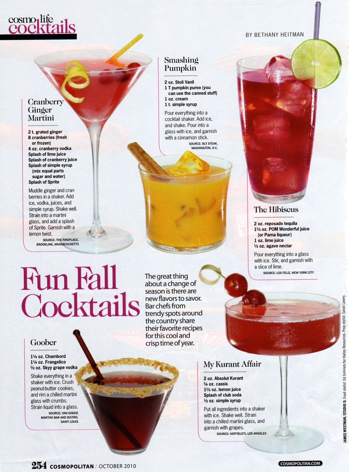 Fall Cocktail Recipes Source: http://luluandgrace.blogspot.ca/2010 ...