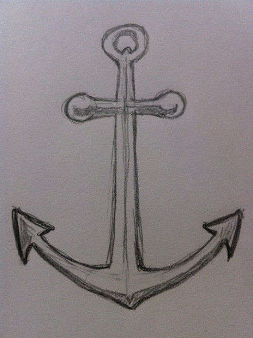 If you want to learn to draw a simple and easy anchor then for Easy drawings that look hard