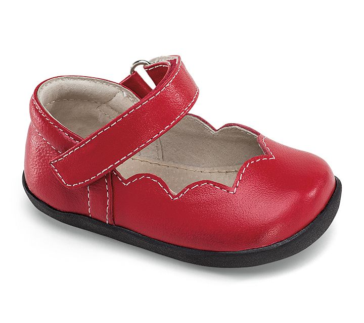 Smaller by See Kai Run – Clara in Red. This scalloped Mary Jane is ... ad108f297557