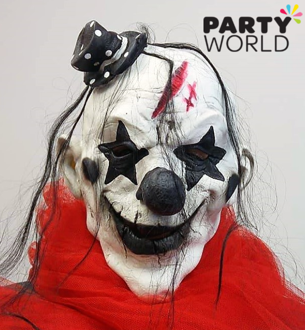 New In Clown Masks In Variety Of Designs Shop Online Or In Our Shop In Christchurch Clown It Itmovie Scary Hall Online Party Supplies Party World Party