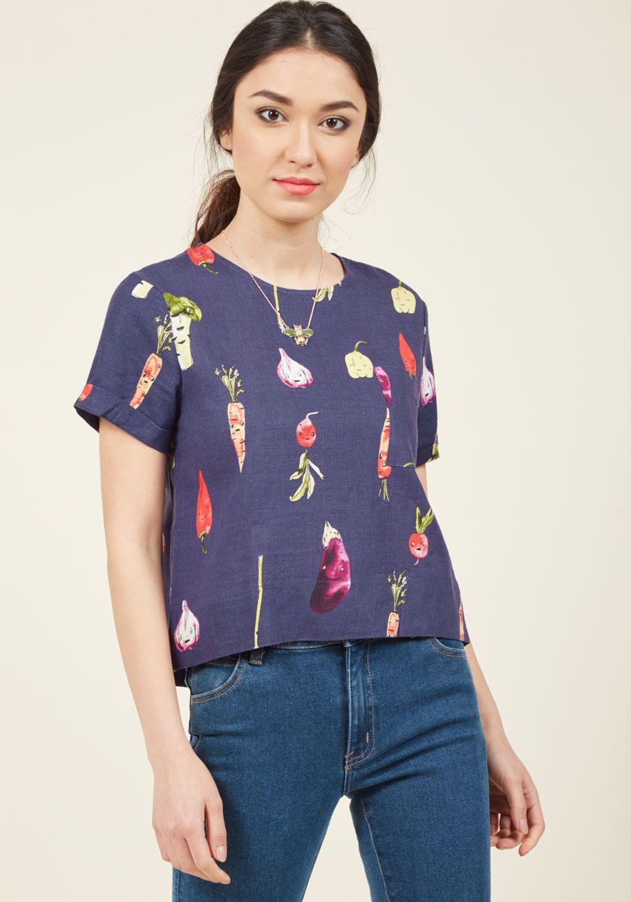 Veggie As She Goes Top in S, #ModCloth